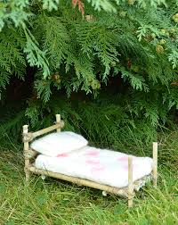 Fairy Bed | mollymoocrafts a fairy bed made with twigs and love