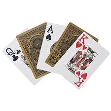 golden foil plastic gilt cards big number high quality