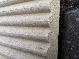 4 x fluted effect inglenook vermiculite fire boards 25mm