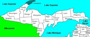 up michigan map map of peninsula of michigan michigan map