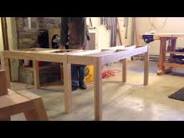 Building A Simple Wooden Desk by L Shaped Desk Design Youtube