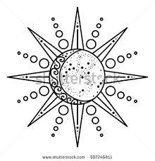 sun moon logo astronomical icon astrological stock vector 507246811
