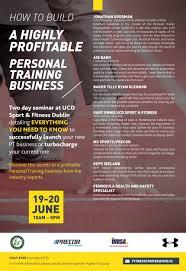 reps ireland ucd personal trainer business weekend