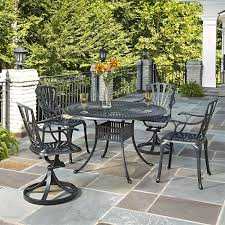 Patio Dining Set Swivel Chairs - home styles 5560 3258 largo 48 round table 2 arm chairs and 2