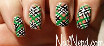 nail nerd nail art for nerds chunky irish plaid nails
