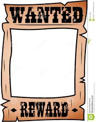 cartoon wanted poster with whitespace stock photo image 35172640
