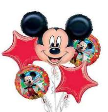 mickey mouse balloon arrangements mickey mouse balloon bouquet 5pc birthday party decorations