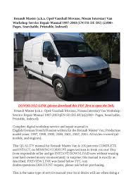 vauxhall movano wiring diagram pdf wiring diagram and schematic