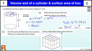 Worksheet Works Calculating Area And Perimeter Answers Volume Of Cylinder And Surface Area Of Cuboid Gcse Maths Revision