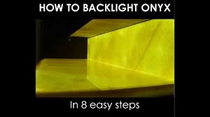 Onyx Countertops Cost How To Backlight Onyx In 8 Easy Steps With Led Light Panels Youtube