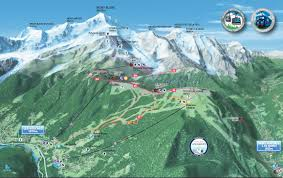 Cable Car Map Cableway Of Bellevue Les Houches Chamonix Valley Mont Blanc View