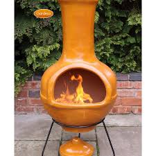 clay fire pits chimineas design and ideas