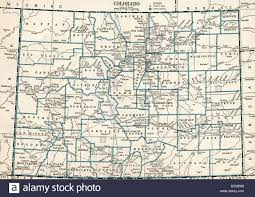 Colorado Map by Old Map Of Colorado State 1930 U0027s Stock Photo Royalty Free Image