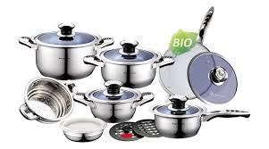 faitout et cuisine batterie de cuisine 16 pieces casserole poele sauteuse faitout