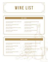 menu template for mac wine menu templates canva
