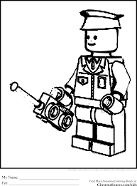 lego coloring pages policeman ginormasource kids