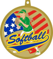Softball Christmas Ornament - in stock baseball softball medallions archives dph custom pins