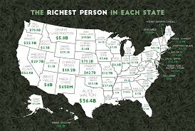 50 State Map Here U0027s A Map Of The Richest Person In All 50 States You Might