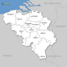 map of begium vector map of belgium