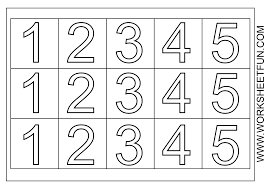 coloring pages numbers 1 5 shishita world com