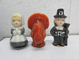 pilgrim candles thanksgiving vintage 1950 s gurley thanksgiving tom turkey pilgrim candles ebay