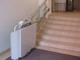 handicapped platform stair lift inclined omega savaria concord