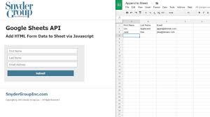 membuat form html online google sheets api html form data to google sheet youtube