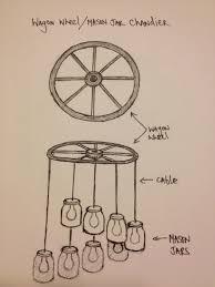 How To Make A Wagon Wheel Light by Wagon Wheel Mason Jar Chandelier My Twist On The Mason Jar