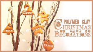 polymer clay christmas decorations tutorial diy easy handmade
