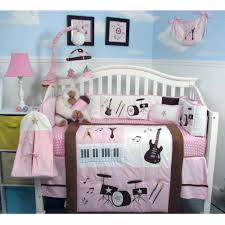 Brown And Pink Crib Bedding Soho Pink And Brown Rock Band Baby Crib Nursery Bedding Set