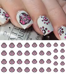 pink flower sugar skulls u2013 moon sugar decals