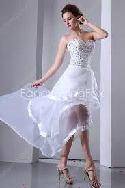 modern and casual sweetheart a line high low hem beach wedding