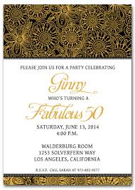 best free printable 50th birthday invitations with gold and black