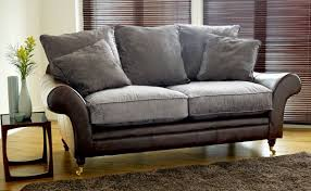 Leather With Fabric Sofas Leather And Fabric Sofa Combinations Miketechguy
