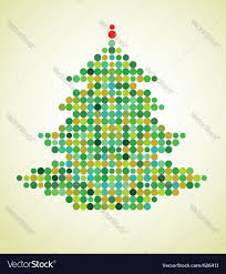 X Mas Tree Xmas Background With Pixel Christmas Tree Vector Image