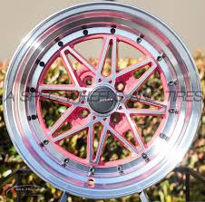 cheap rims honda accord awesome 15x8 avid 1 wheels av 07 4x100 15mm pink fits acura