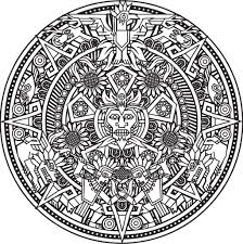 inca or maya god mandala to color by bigredlynx difficult