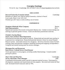 sle resume for bartender position descriptions sle bartender resume template 8 download free documents in