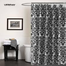 rideau de ufriday noir et blanc baroque étanche rideau de