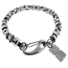 blue stainless steel necklace images Shop black and blue jewelry stainless steel men 39 s chain bracelet jpg