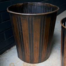 japanned finished copper factory office trash cans wastebaskets
