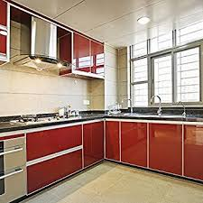 contact paper for kitchen cabinets amazon com yazi kitchen contact paper self adhesive pvc shelf