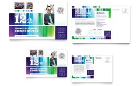 business postcards templates business leadership conference
