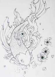 koi fish drawing outline search koi fish designs