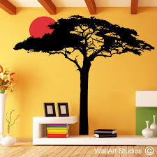 trees wall art decals wall art in south africa wallart studios sunset acacia