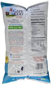 amazon com cape cod 40 reduced fat salt and vinegar kettle