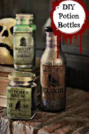 diy halloween decor potion bottles days of chalk and chocolate