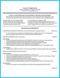 car salesperson sample resume