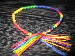 friendship bracelet knots images Rainbow stripe knot art friendship bracelet www craftyambe flickr jpg