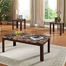 livingroom end tables faux marble 3 coffee and end table set colors